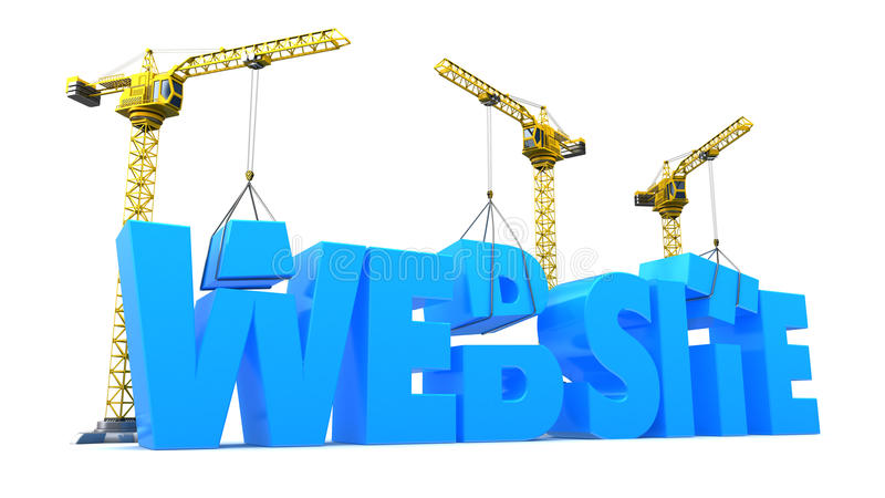 Webpagina en media speler en pictogramreeks royalty-vrije illustratie