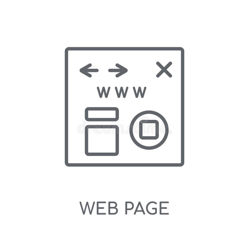 Webpagina lineair pictogram Modern het embleemconcept van de overzichtswebpagina op wh vector illustratie