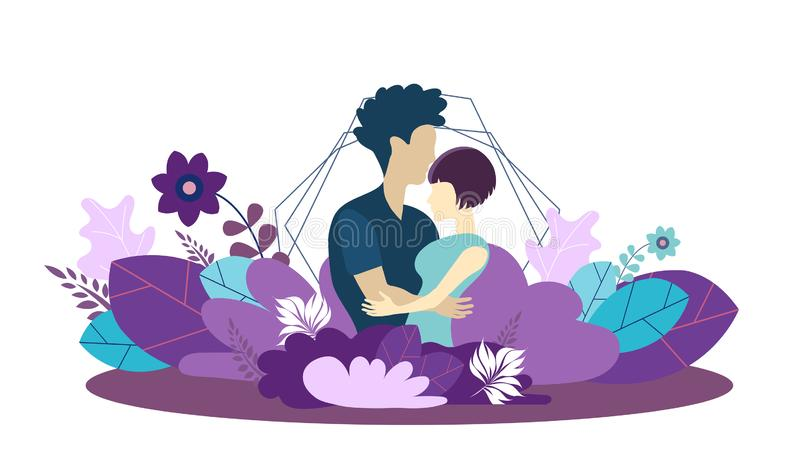 Webpaginaontwerpsjabloon voor groeiende familie, gezond en veilig milieu voor de familie Moderne vectorillustratie vector illustratie