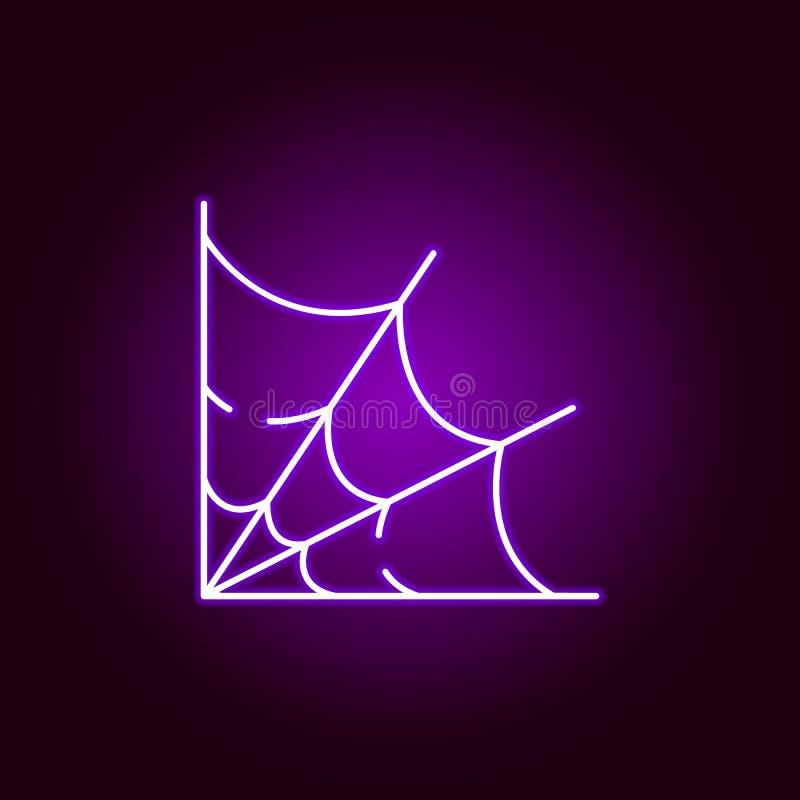 Webpictogram in neonstijl Element van Halloween-illustratie Tekens en symboleninzamelingspictogram voor websites, Webontwerp, mob stock illustratie