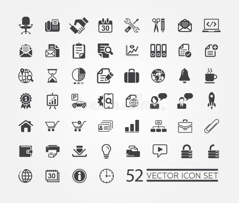 Webpictogrammen voor zaken, financiën en mededeling vector illustratie