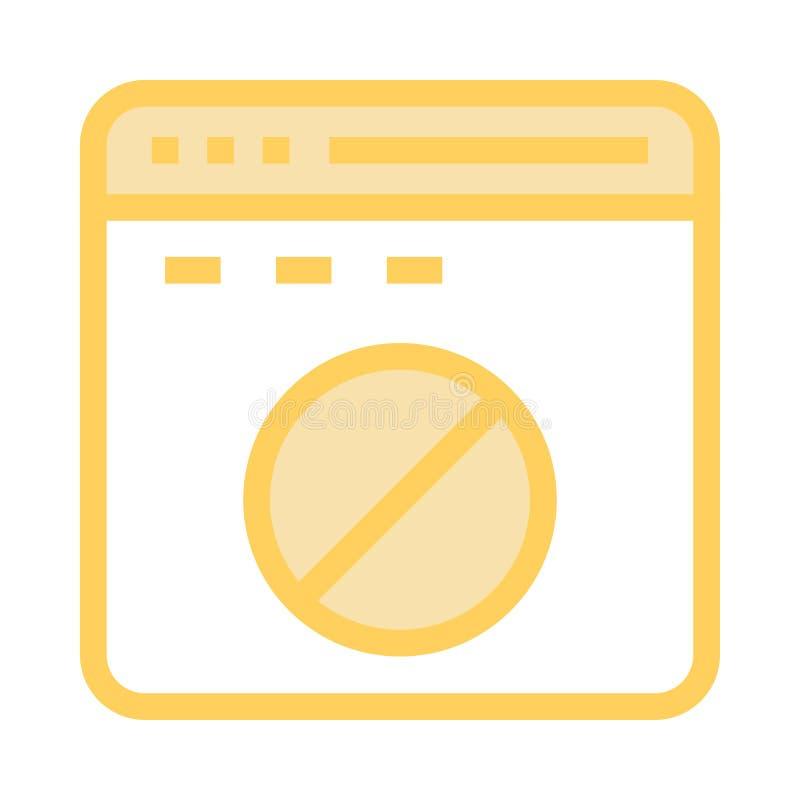 Webseitenblock-Farblinieikone stock abbildung