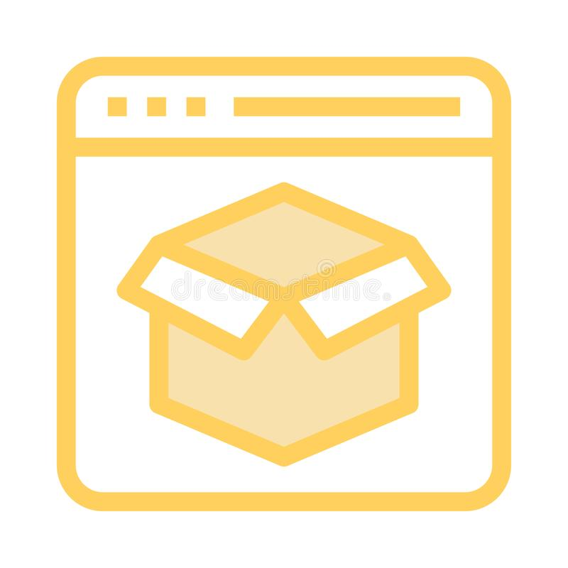 Webseitenpaket-Farblinieikone stock abbildung