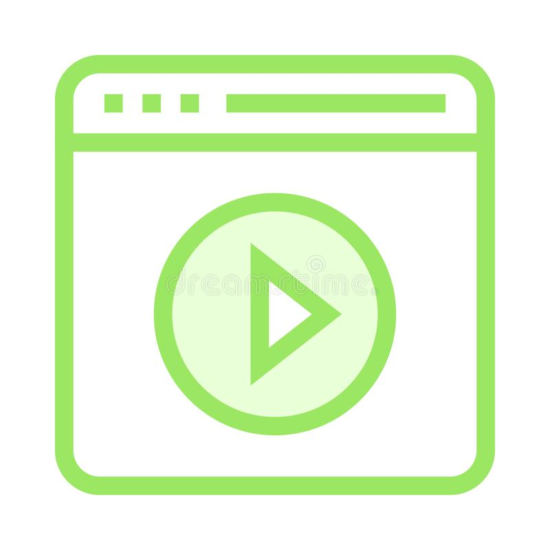 Webseitenspiel-Farblinieikone stock abbildung