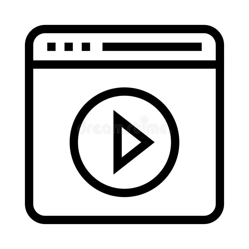 Webseitenspielpost-Vektorlinie Ikone vektor abbildung