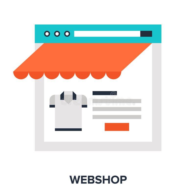 Webshop illustrazione di stock