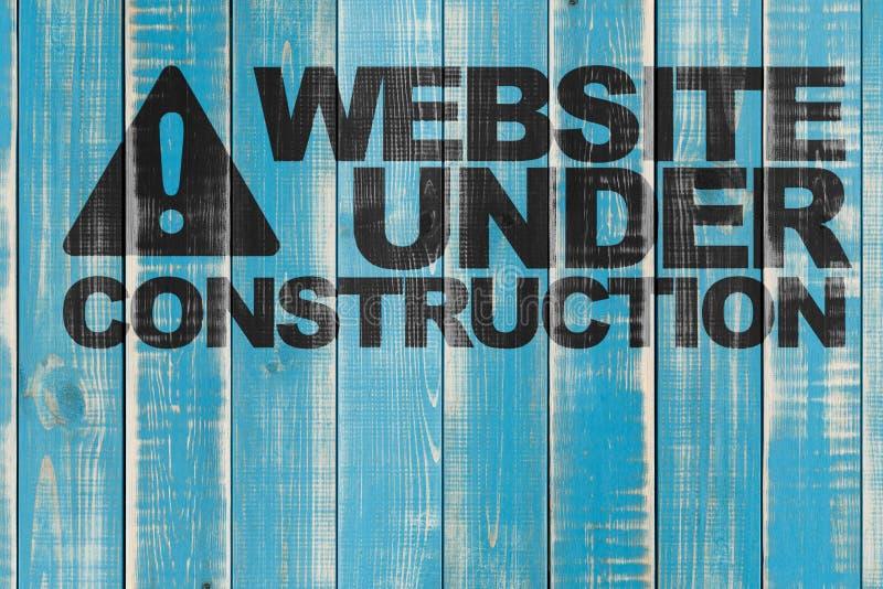 Website in aanbouw royalty-vrije stock afbeelding