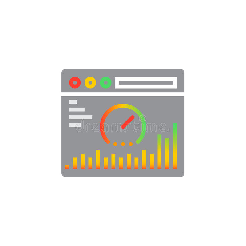 Website analysis icon vector, filled flat sign, solid colorful stock illustration