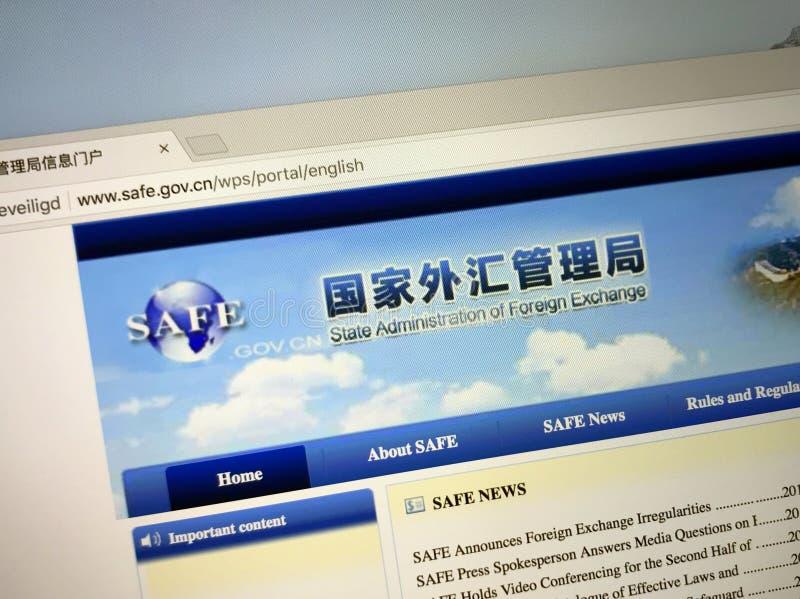 Website av den statliga kinesiska administrationen av valutamarknadKASSASKÅPET arkivfoto