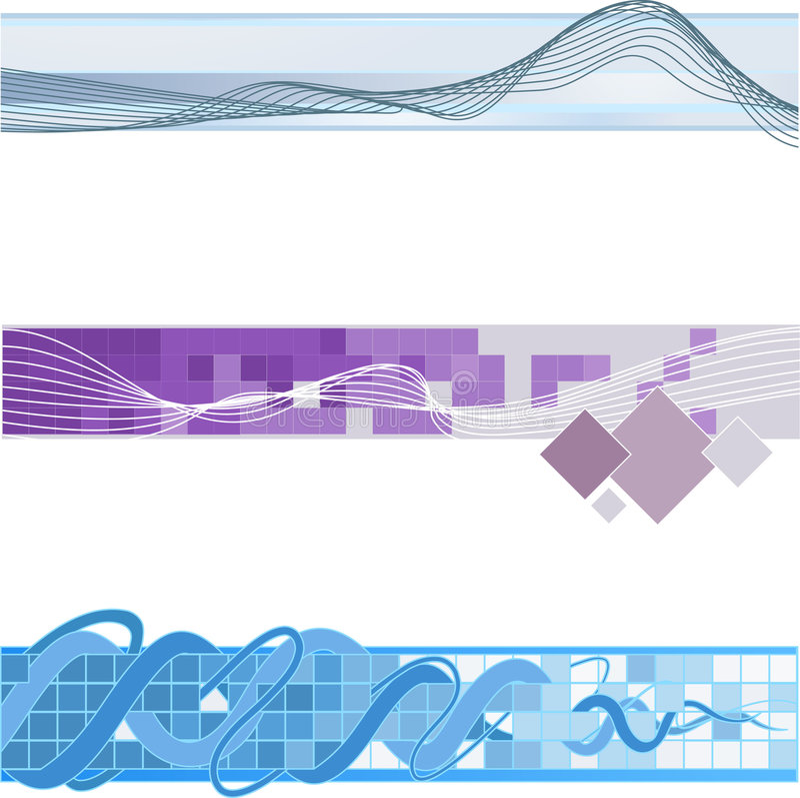 Website banner backgrounds vector illustration