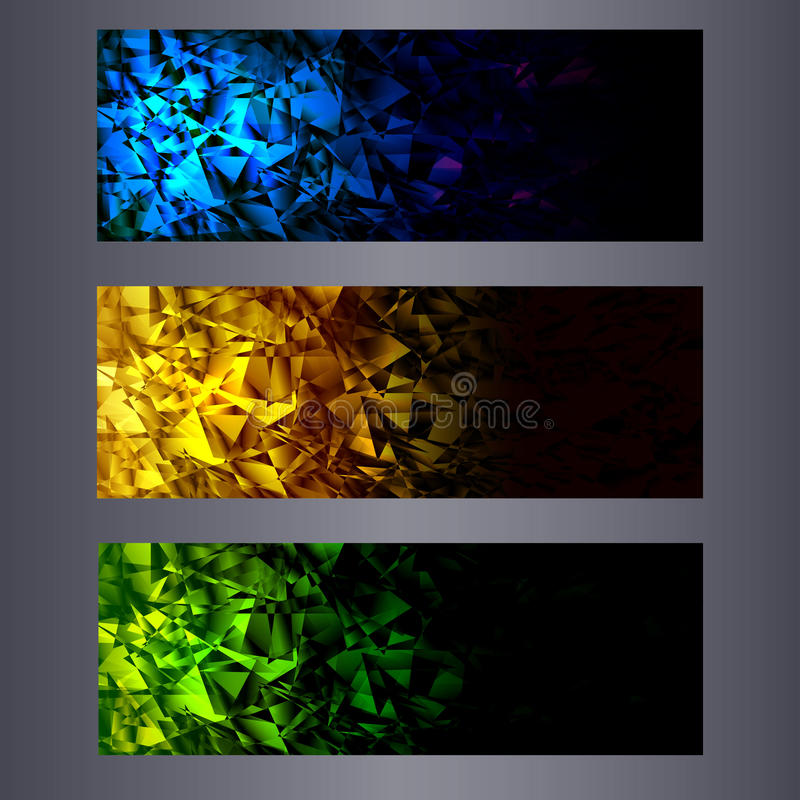 Website banners templates. Abstract backgrounds. Website color banners templates. Abstract backgrounds stock illustration