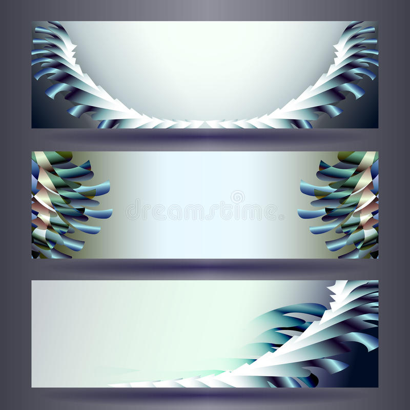 Website banners templates. Abstract backgrounds. Website color banners templates. Abstract backgrounds vector illustration