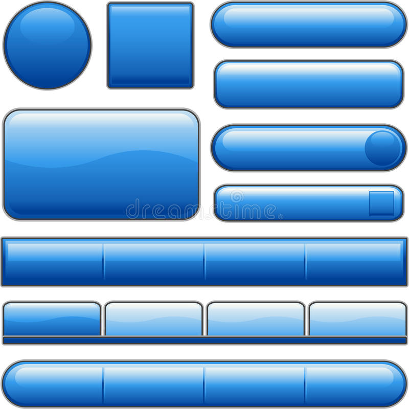 Website blue glossy buttons
