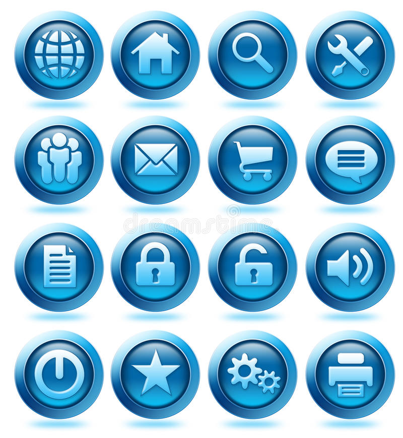 Download Website Blue Icons Stock Photos - Image: 10965703