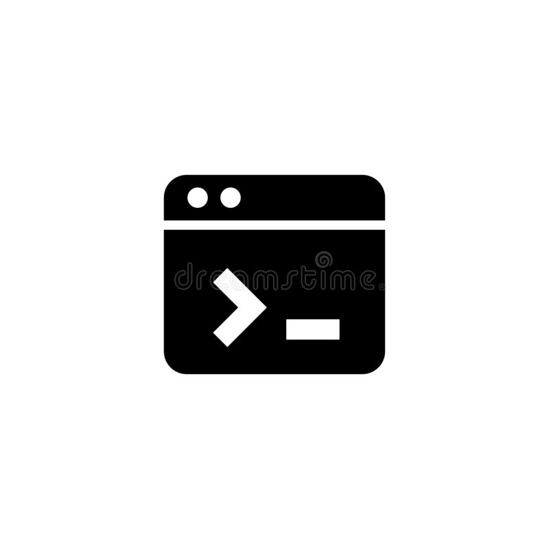 Web page icon. Broweser sign. Website, browser, vector, page, landing, internet, icon, illustration, design, flat, template, layout, interface, user, business royalty free illustration