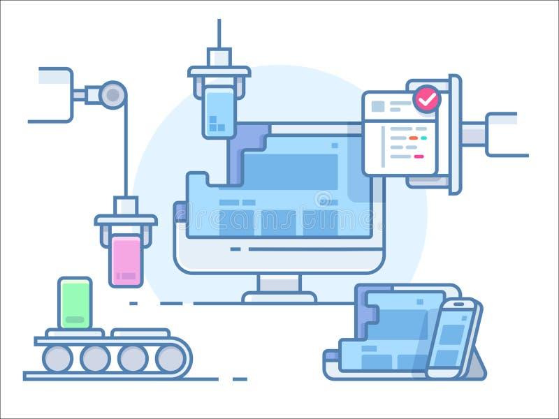 Website building design vector illustration