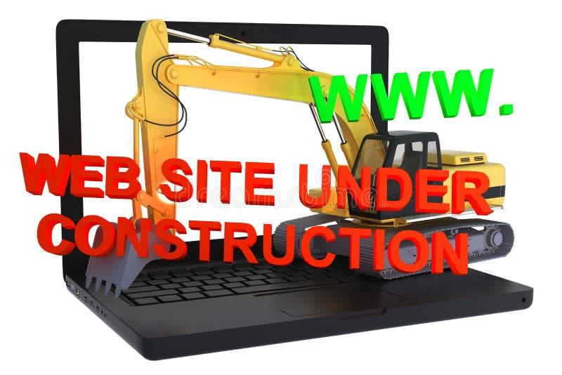 Download Website Building On Laptop Under Construction Stock Illustration - Image: 26123210
