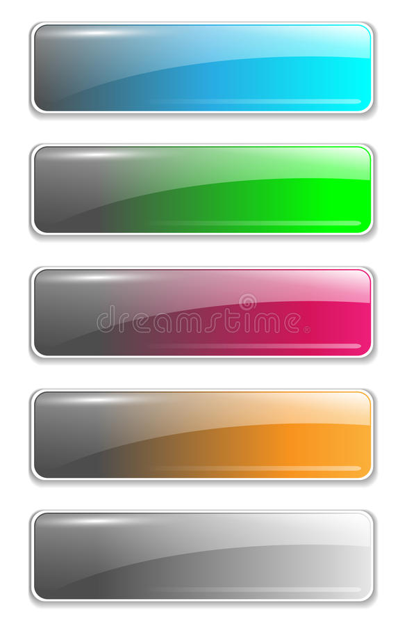 Website buttons template royalty free illustration