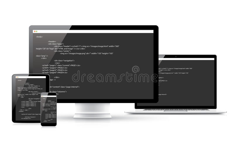 Website coding development vector concept in elect vector illustration