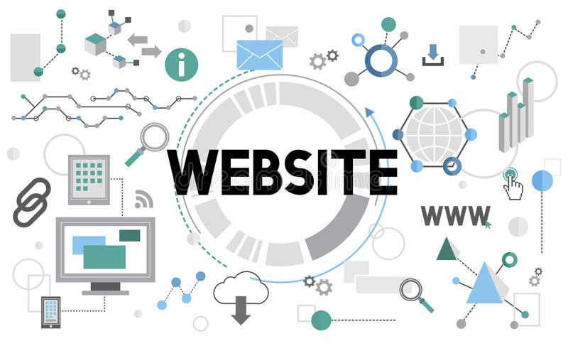 Website Connetion InterWebsite Connection Internet Technology Network Concept net Technology Network Concept stock illustration
