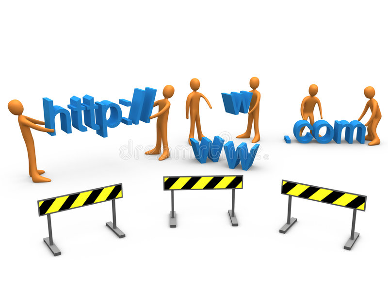 Website Construction. Computer generated image representing website construction