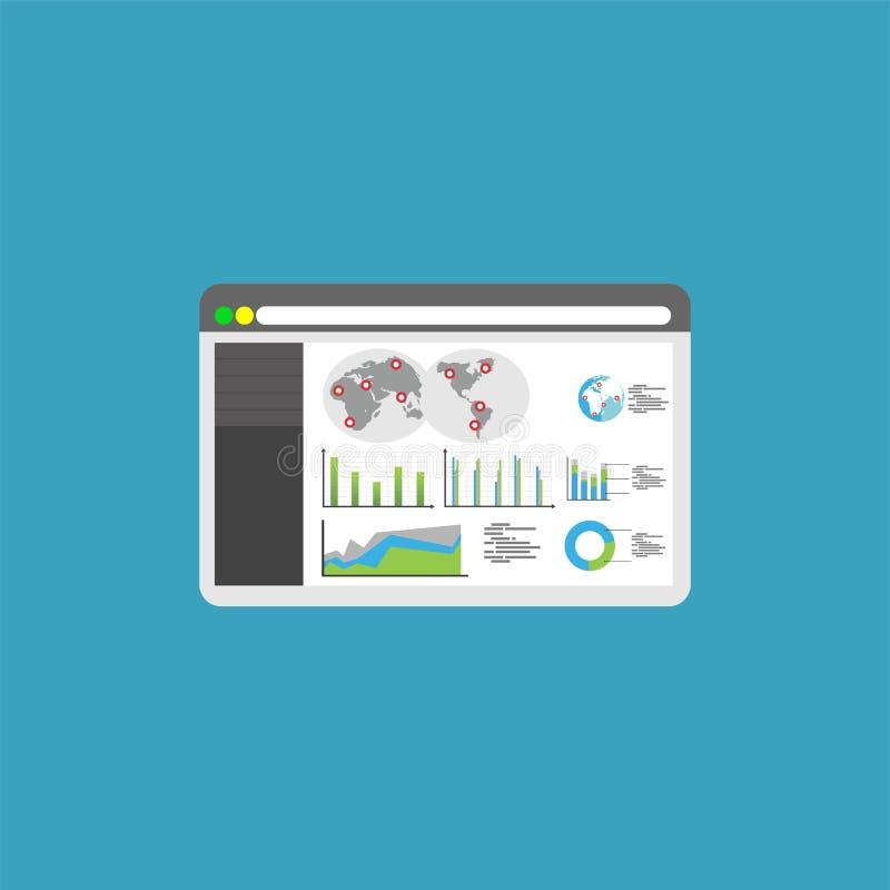 Website dashboard. Business dashboard symbol. vector illustration