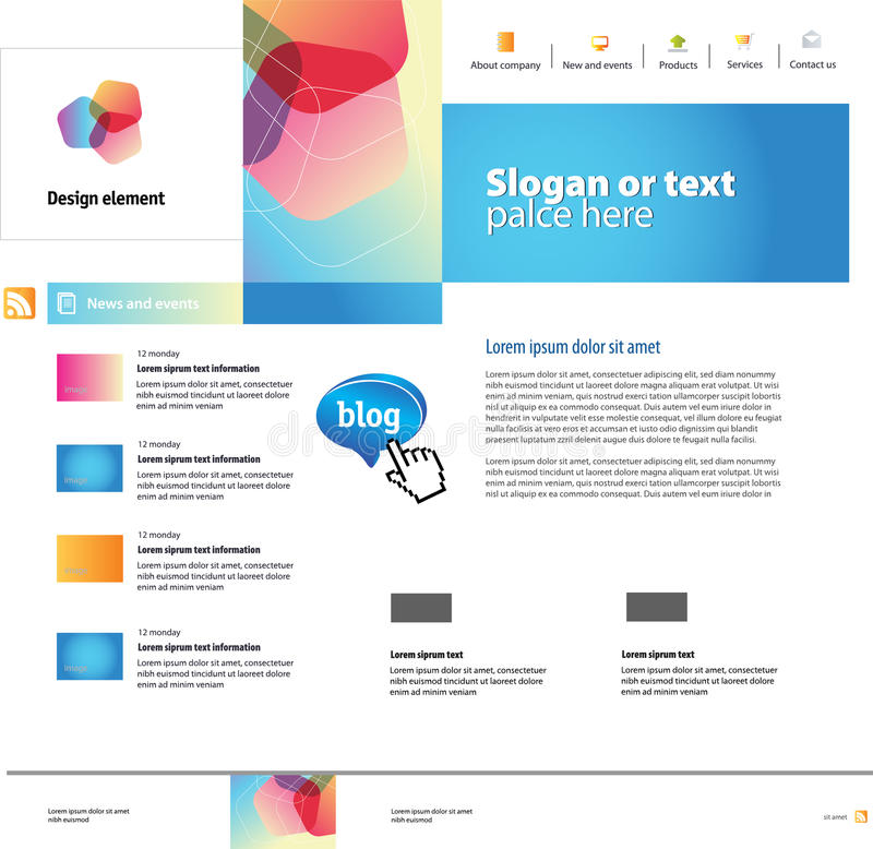 Website design royalty free illustration