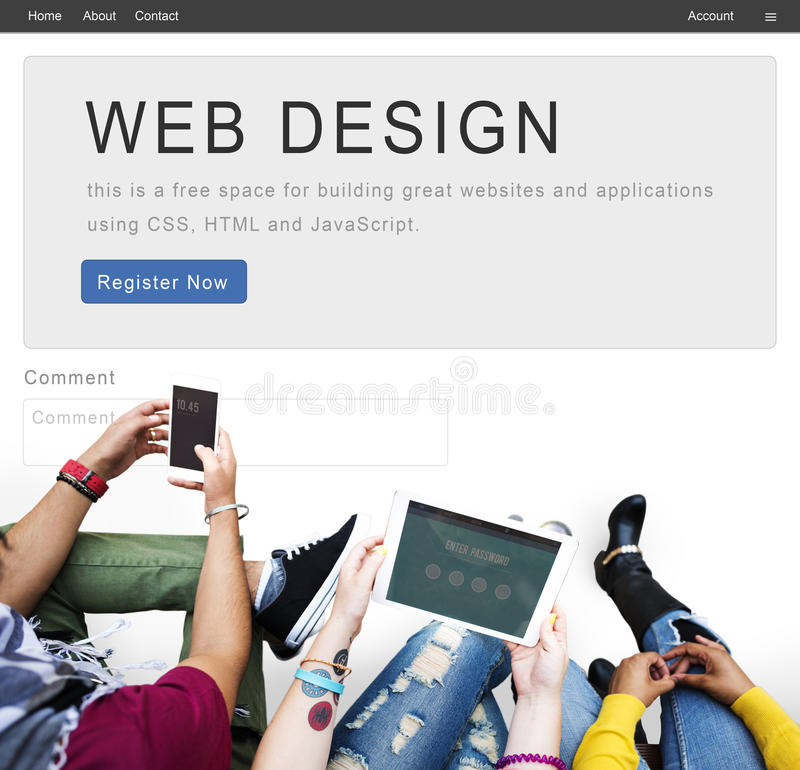 Website Design Homepage Layout Creativity Concept royalty free stock photo