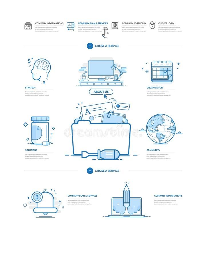 Website design model templates. Website design model templates with navigation and icons set vector illustration