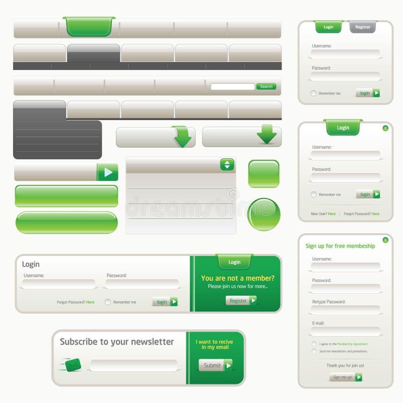 Download Website design template stock vector. Illustration of glass - 14291313