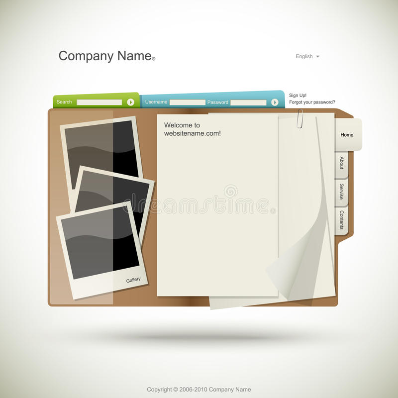 Website design template vector illustration