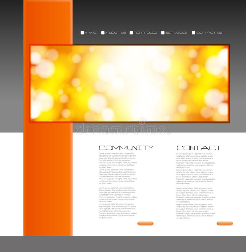 Free Website Design Template Royalty Free Stock Photo - 34987875