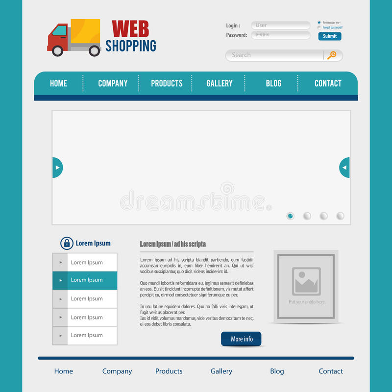 website design template design vector illustration