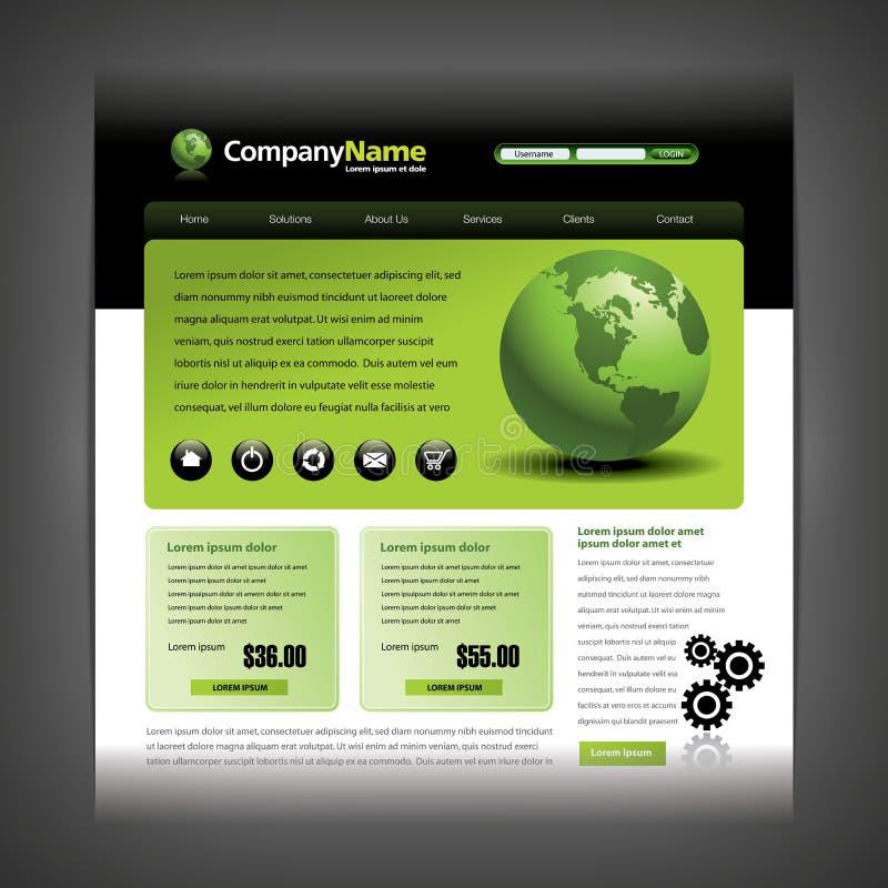 Website design template stock illustration