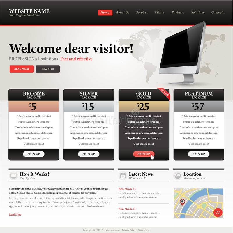 Website design template royalty free stock images image for Website planning software