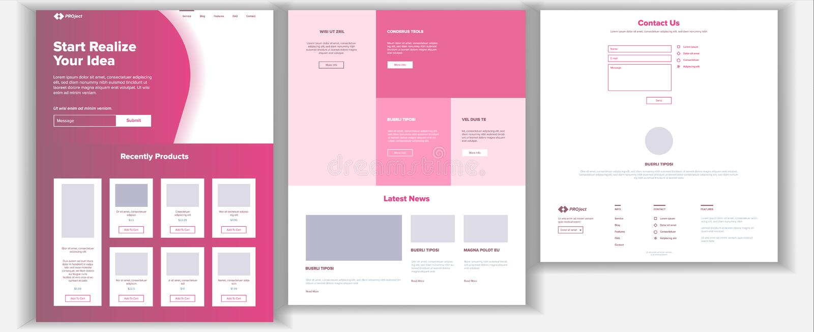 Website Design Template Vector. Business Project. Landing Web Page. Financial Management. Looking Opportunity. Manager vector illustration