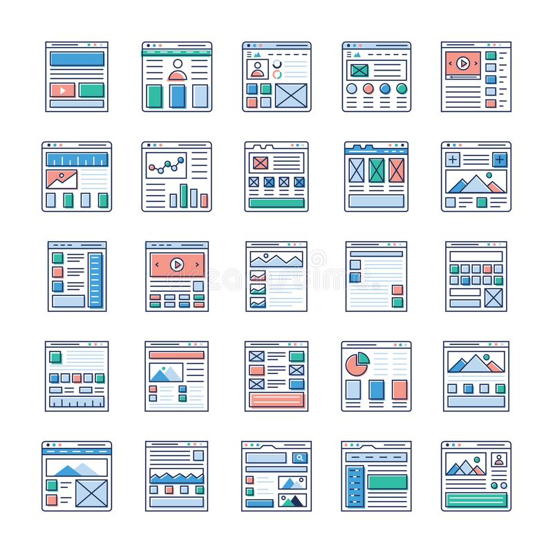 Website Designing Flat Icons Pack. Is here. If you`re interested in web designing, web hosting, videography, web communication and so on hence, grab this royalty free illustration