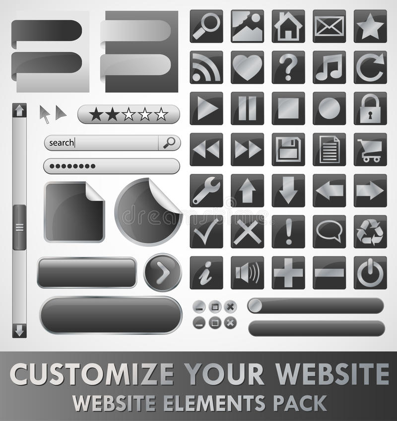 Website elements royalty free illustration