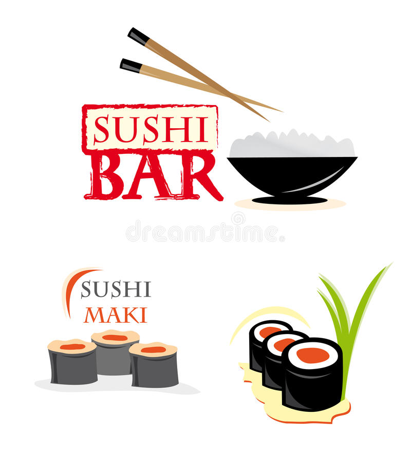 Website Elements With Sushi Stock Images