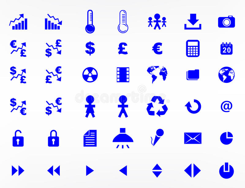 Website elements and symbols stock illustration