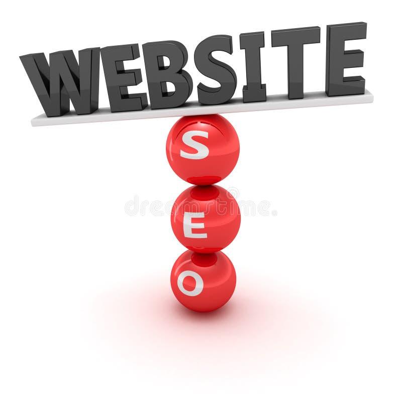 Website en seo vector illustratie