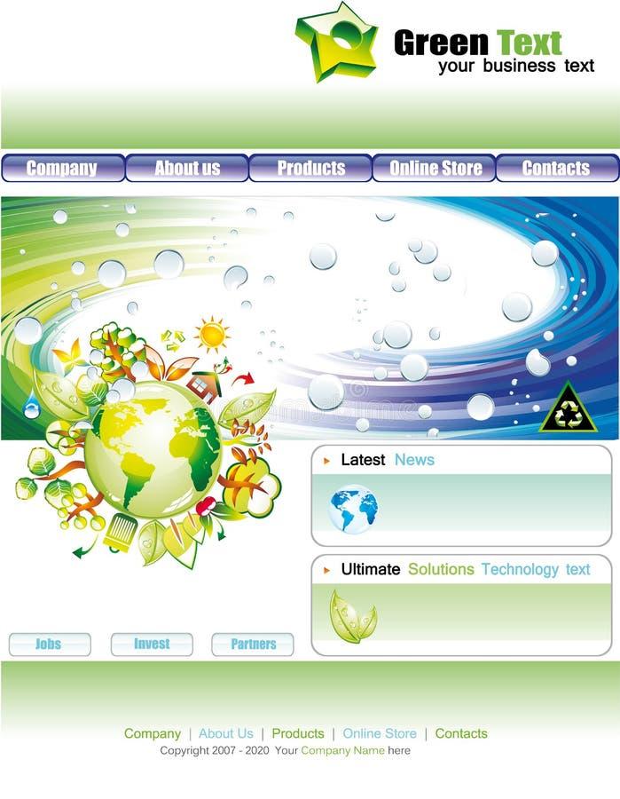 WebSite Environmental Green Template royalty free stock photo