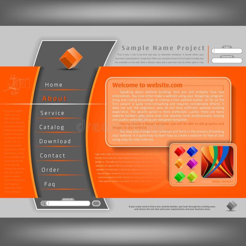 website för designmallvektor royaltyfri illustrationer