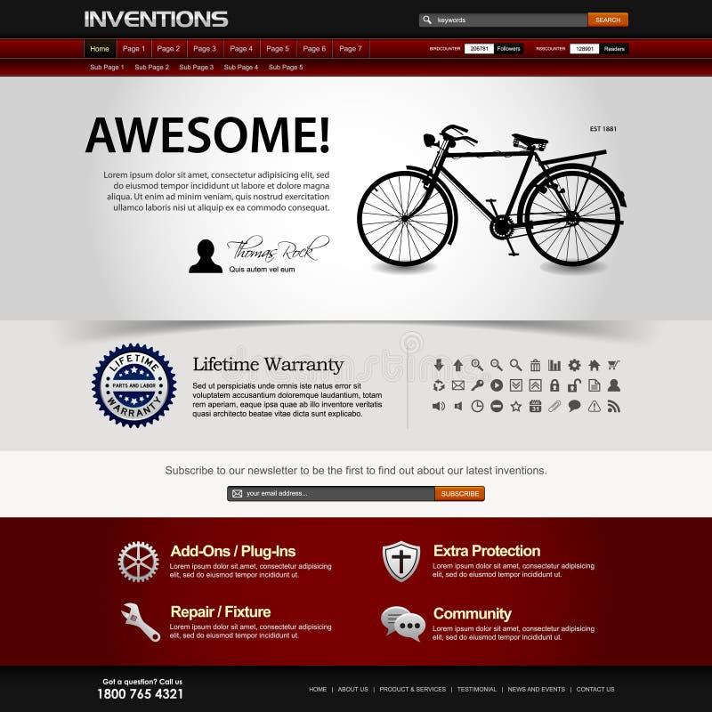 website för rengöringsduk för designelementmall royaltyfri illustrationer