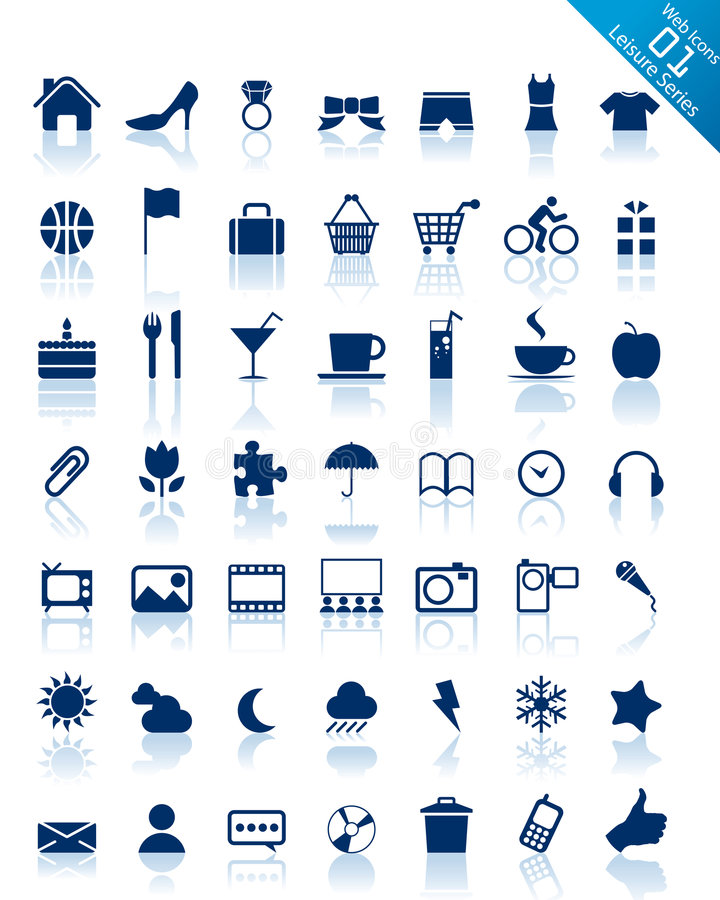 website för serie för symbolsinternetfritid royaltyfri illustrationer