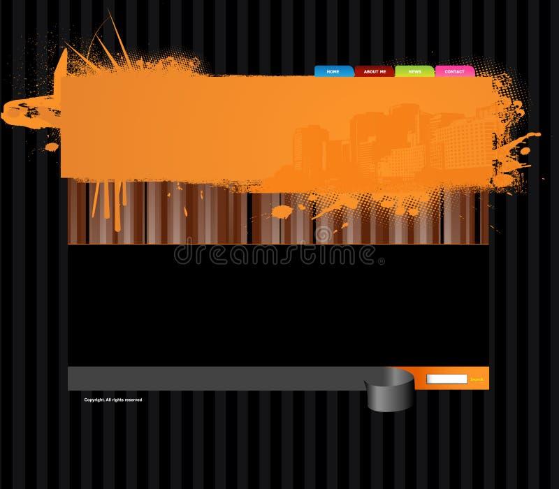 website för stadspanoramamall stock illustrationer
