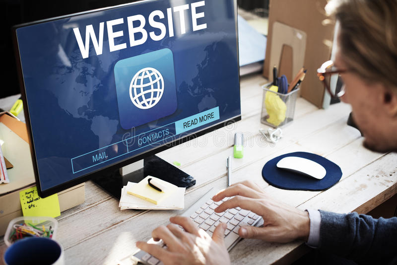 Website Global Connection Communication Internet WWW Graphic Con royalty free stock photos