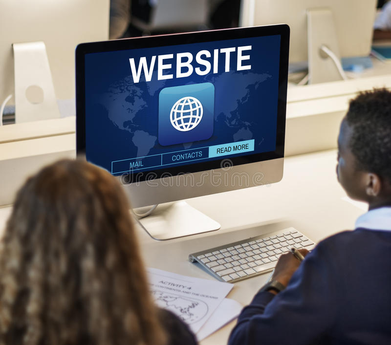 Website Global Connection Communication Internet WWW Graphic Con stock image