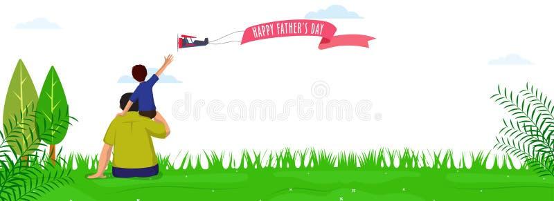 Website header or banner design for Happy Father`s Day Celebration. Day stock illustration