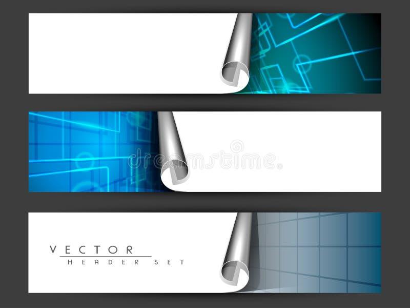 Website header or banner set. stock illustration